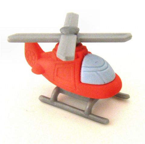Red Helicopter - 3D Novelty Erasers Rubbers